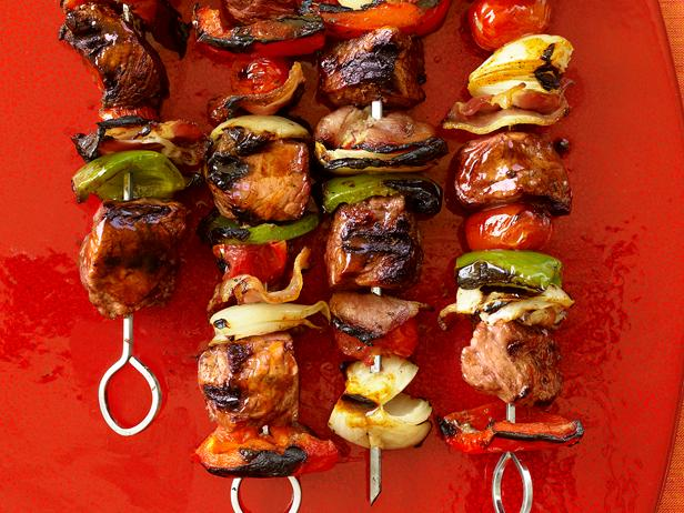 bacon beef kebobs