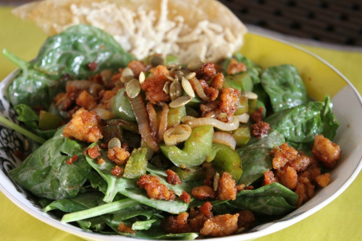 Buttery Lettuce Tempeh Salad